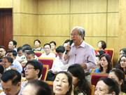 全国选民和人民向国会提出近3500条意见建议