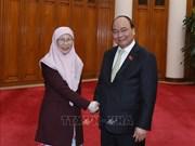 阮春福会见马来西亚副总理旺·阿兹莎