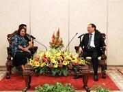 胡志明市领导人会见古巴全国妇女联合会秘书长