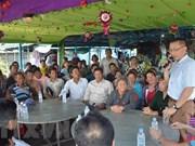越南驻柬埔寨大使看望慰问旅居柬埔寨磅清扬省的越裔柬埔寨人