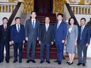 越南政府总理阮春福会见韩国三星集团领导
