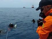 印尼客机坠海事件:发现疑似部分客机机身