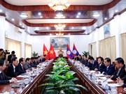 越共中央检查委员会与老挝人民革命党中央纪检委员会加强合作