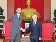 越共中央总书记、国家主席阮富仲会见法国总理爱德华·菲利普