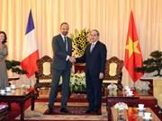 胡志明市市委书记阮善仁会见法国总理爱德华•菲利普