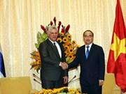 胡志明市市委书记阮善仁会见古巴国务委员会主席兼部长会议主席迪亚斯-卡内尔