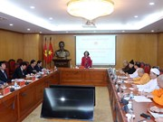 越共中央民运部部长张氏梅会见宗教界国会代表