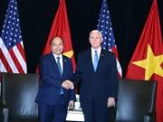 越南政府总理阮春福会见美国副总统彭斯