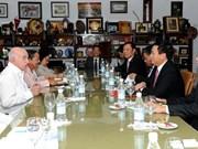 古巴共产党中央委员会第二书记会见越南共产党代表团一行
