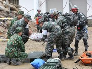 越中边境国防友好交流活动: 越中两军开展灾害救援联合演练活动