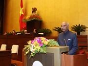 印度总统拉姆·纳特·考文德在越南国会发表重要演讲