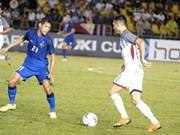 泰国队与菲律宾队1-1握手言和 两队继续排名B组前两位