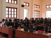 广南省为老挝色贡省军事指挥部边防部队进行业务培训