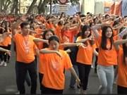 """河内市5000人参加""""为善意舞蹈""""活动"""