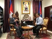 柬埔寨领导:柬越关系继续不断向前发展
