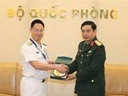潘文江会见日本国防部代表团