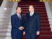 越南政府总理阮春福会见老挝司法部部长
