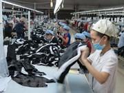 越南纺织服装出口额创三年来最大增幅