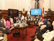 越南国会代表团访问阿根廷
