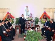 2018年圣诞节:张氏梅看望慰问天主教裴朱教区主教座堂神职人员