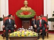 越共中央组织部部长范明正会见日本共产党中央委员会主席