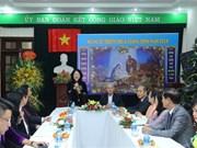 国家副主席邓氏玉盛走访慰问越南天主教团结委员会