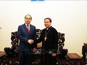 胡志明市领导圣诞节前走访慰问胡志明市天主教人士