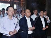 阮春福前往清化省蓝京国家级特殊历史遗迹区上香和开展参观考察活动