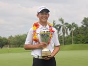 13岁的高尔夫球选手邓光英跻身世界业余高尔夫球手排行榜