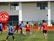 """庆祝柬埔寨""""1·7胜利日""""的越柬足球友谊赛 在金边举行"""