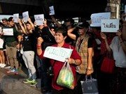 泰国活动人士举行和平集会反对推迟大选