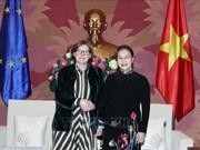 国会主席阮氏金银会见欧洲议会副议长海蒂