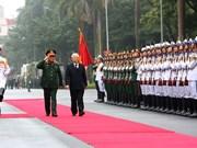 越共中央总书记、国家主席阮富仲出席2018年全军军政会议