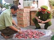 谅山省春节前夕严厉打击各类非法储存运输鞭炮行为
