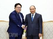 越南政府总理阮春福会见若干日本集团领导
