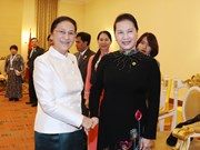 越南国会主席阮氏金银会见老挝国会主席巴妮·雅陶都