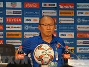 韩国教练朴恒绪为越南队的胜利感到满意