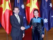 越南国会主席阮氏金银与澳大利亚参议院议长瑞安举行会谈