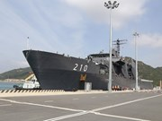 新加坡海军坚韧级登陆舰抵达金兰国际港