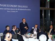 WEF Davos 2019: 越南政府总理阮春福与世界跨国集团负责人进行对话