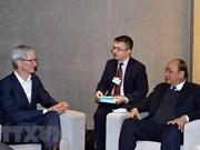 WEF Davos 2019:越南政府总理阮春福会见跨国集团领导