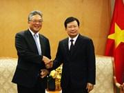 越南政府副总理郑廷勇会见日本丸红株式会社首席执行官
