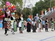 奠边省昭离山区民族同胞欢天喜地迎新春