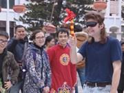 外国留学生喜欢体验越南春节文化习俗