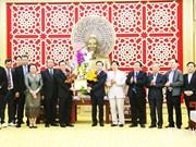 老挝多地代表组团前往乂安省拜年