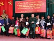 陈国旺同志赴山罗省拜年   张和平春节走访慰问同塔省优抚家庭和贫困群众