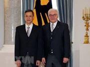 越南驻德国大使向德国总统施泰因迈尔递交国书