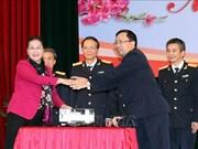 阮氏金银走访海关总局和越南外贸股份商业银行