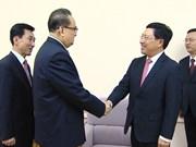 政府副总理兼外交部长范平明对朝鲜进行正式访问