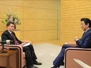 日本首相安倍晋三接受越通社社长独家专访